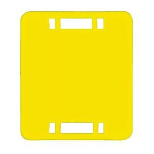 Identifikační štítek pro koně, ŽLUTÝ, 7x8 cm